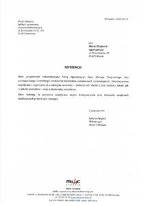 List referencyjny od Music Company