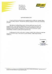 List referencyjny od No Limit