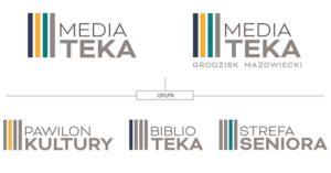 projekt logo mediateka biblioteka grodzisk mazowiecki