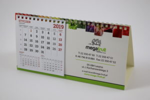 kalendarz biurkowy mega fruit